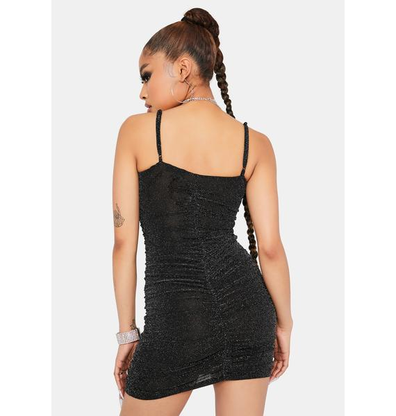 Body On Body Ruched Glitter Bodycon Dress