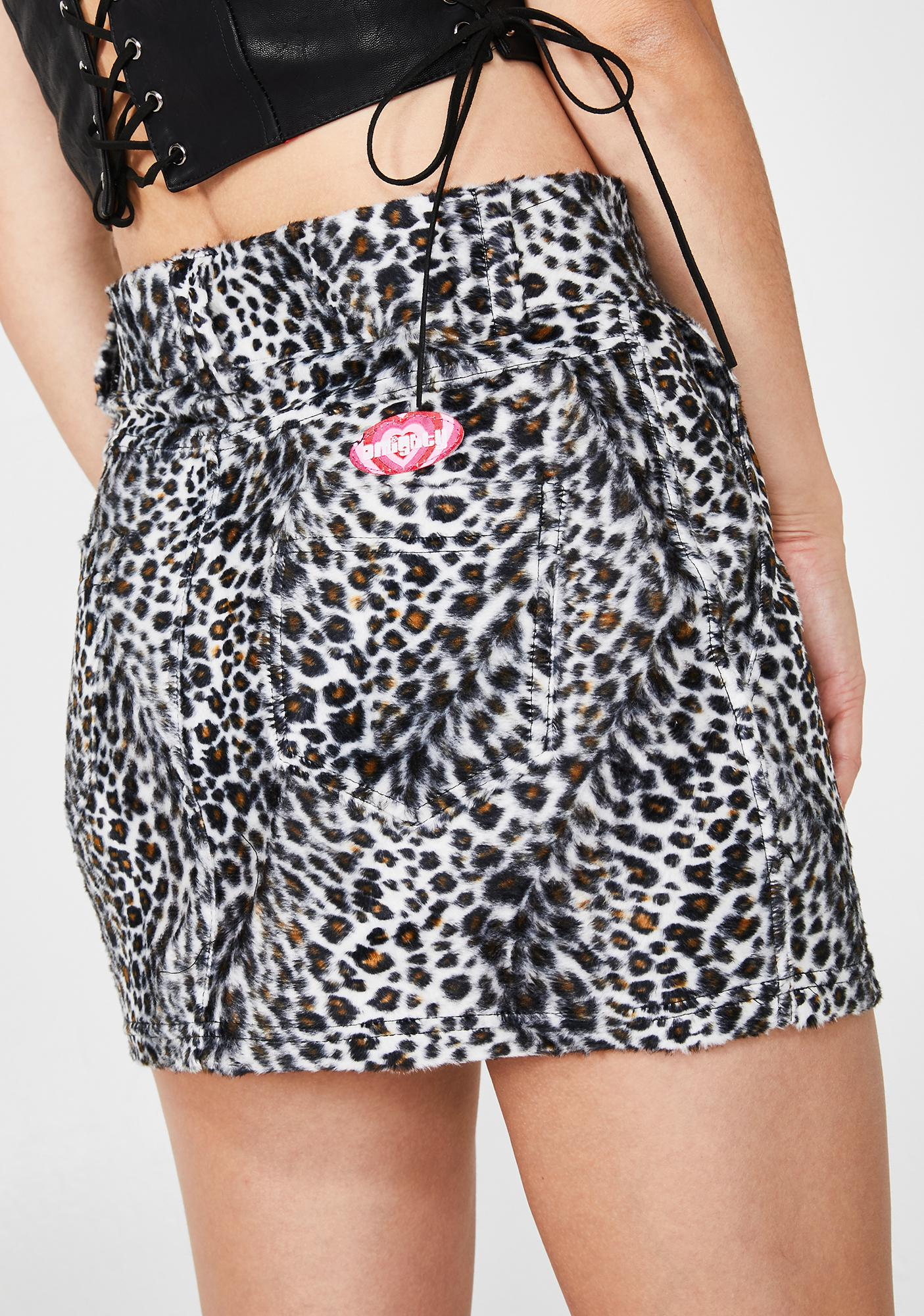 O Mighty Snow Leopard Chain Skirt
