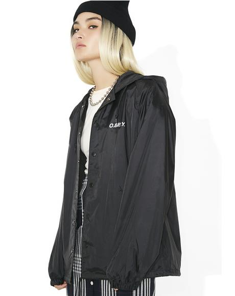 Defiant Rose Snap Hooded Coaches Jacket