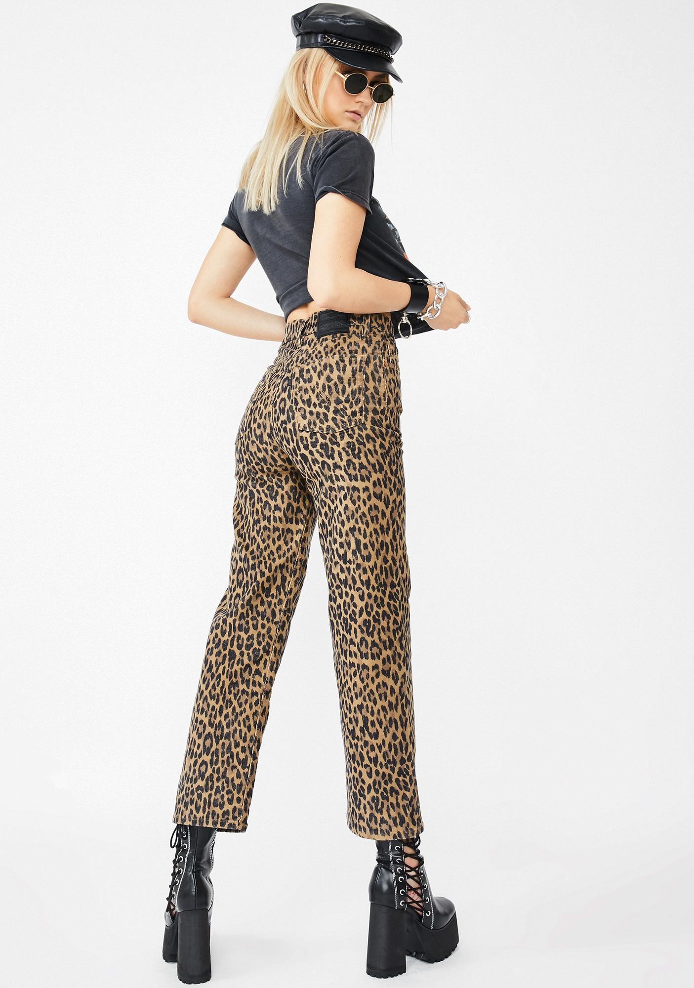 Levis Gehu Leopard Corduroy Straight Leg Pants