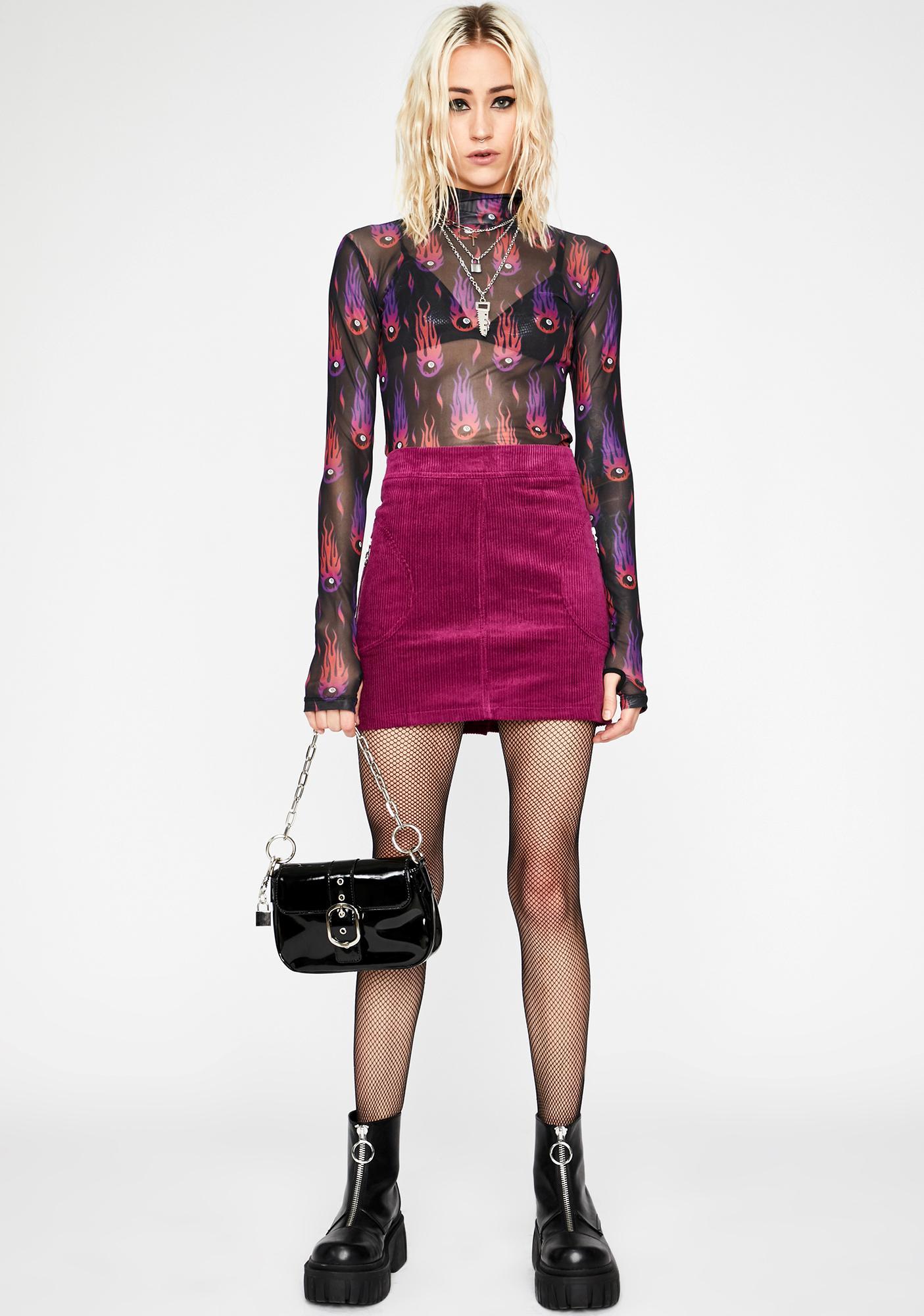 Rude Rumors Mini Skirt