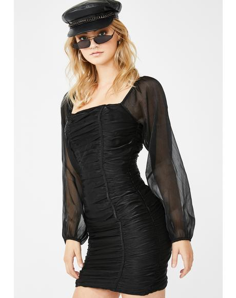Date Desire Ruched Dress