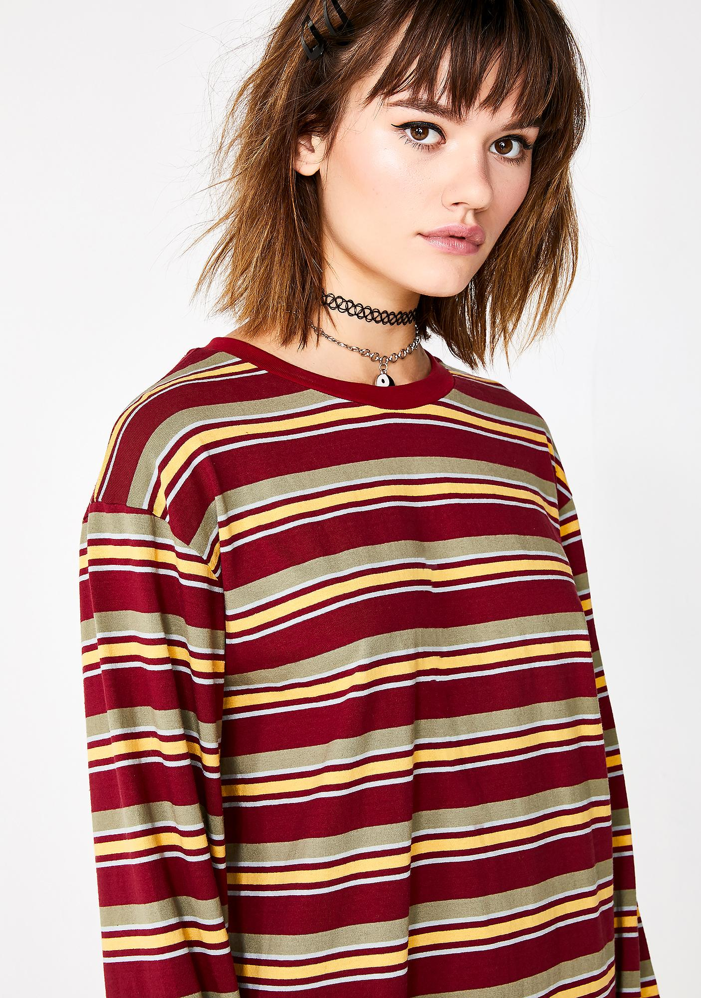 Current Mood Love Playin' Hooky Striped Top