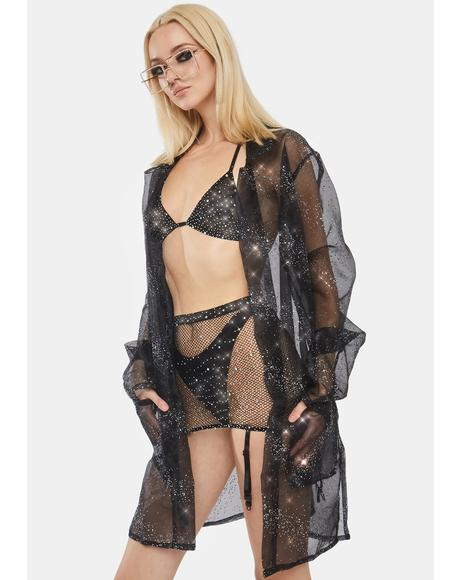 Feather Organza Robe