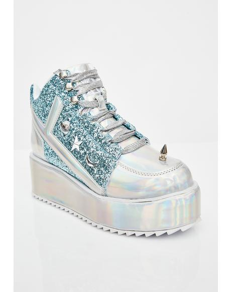 Qozmo Lo Unicorn Hologram Sneakers