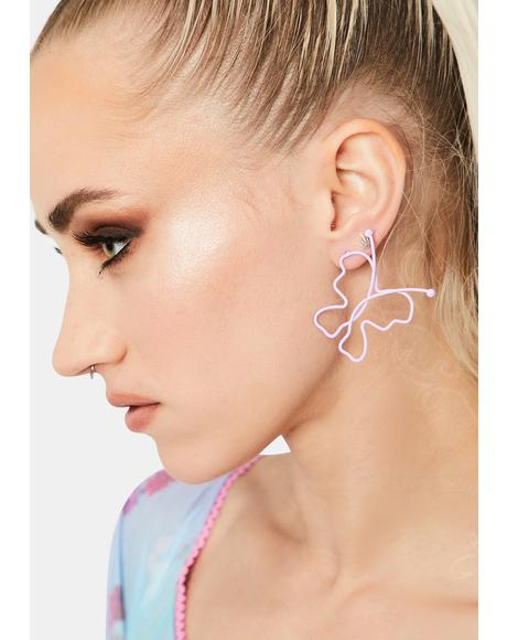 Iris Metamorphic Bliss Butterfly Earrings