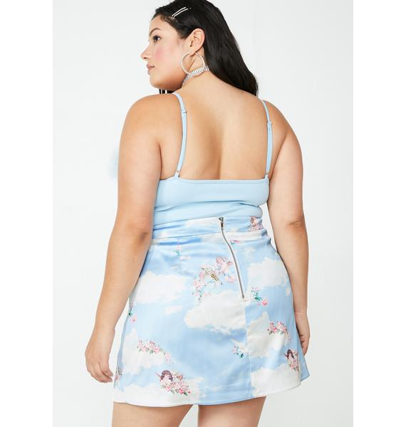 Sugar Thrillz Lux Celestial Sass Satin Skirt