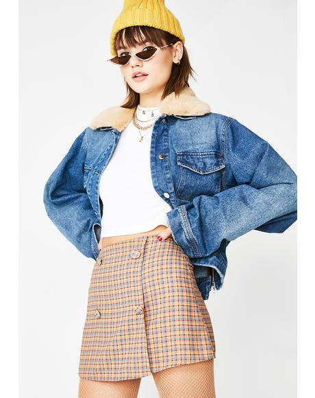 As If Plaid Skirt