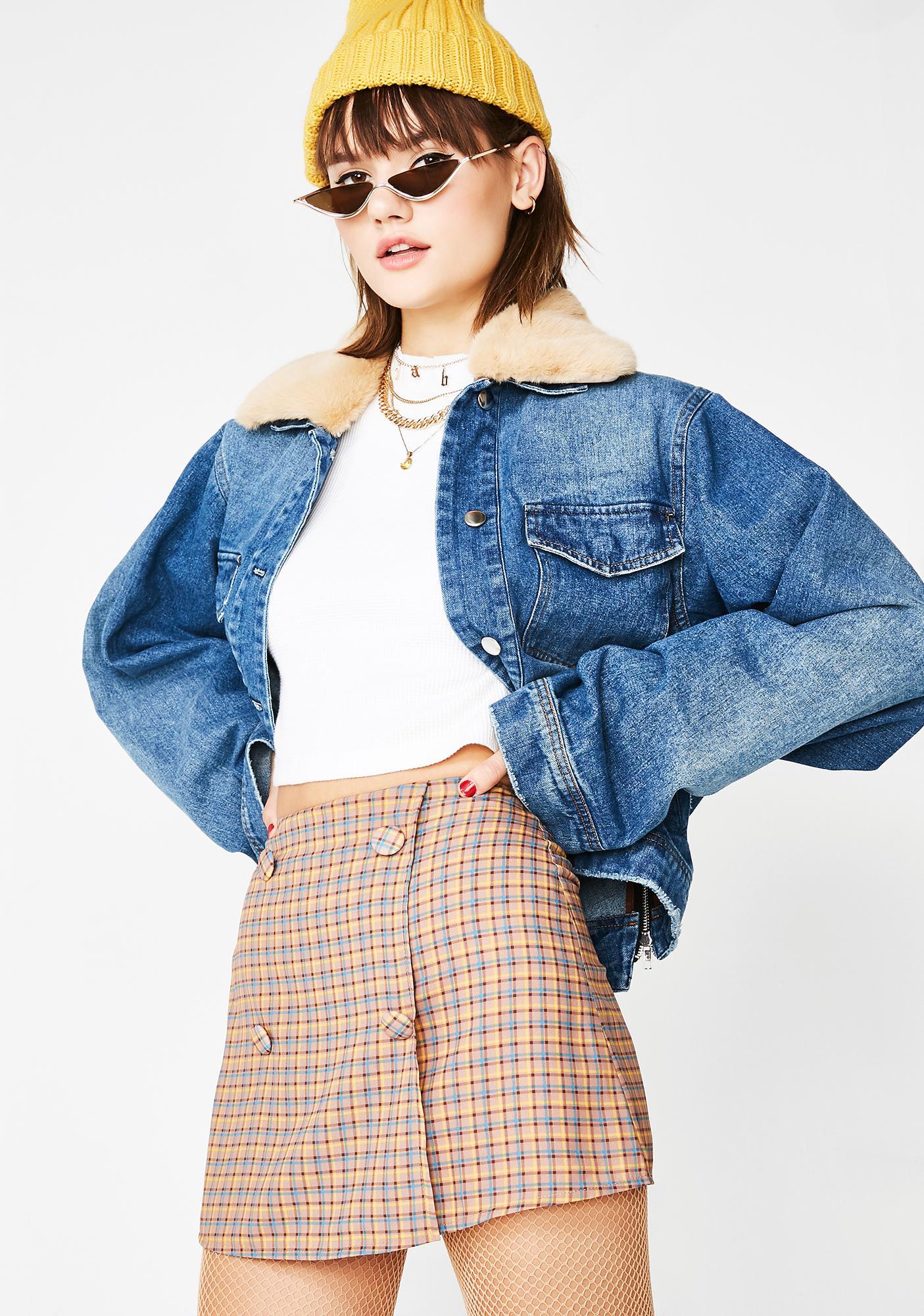 As If Plaid Skirt