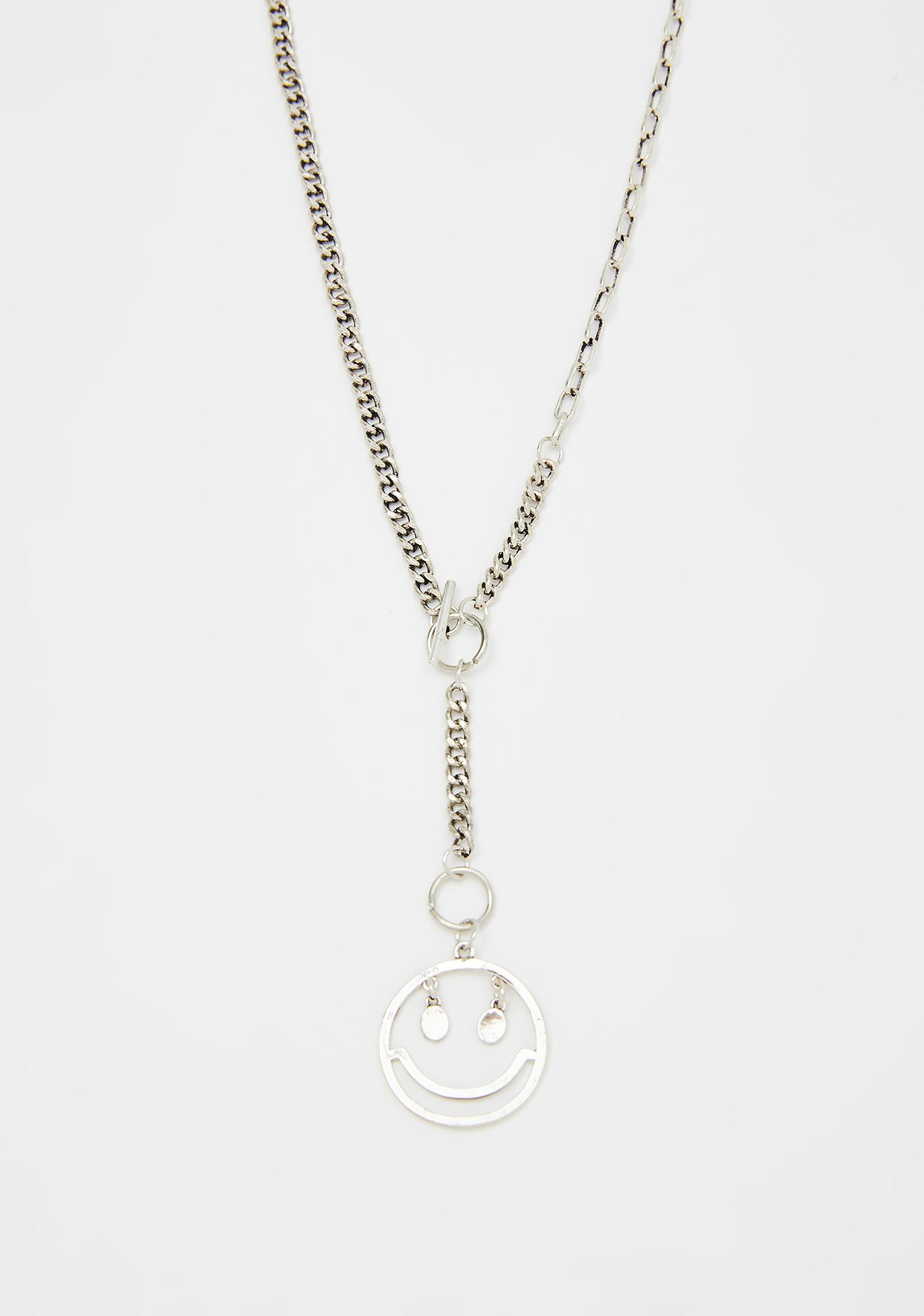 Put On A Happy Face Chain Necklace