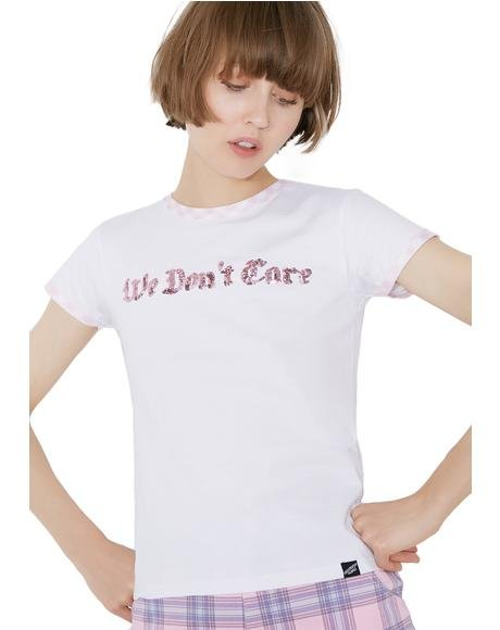We Don't Care Ailsa Sequin Tee