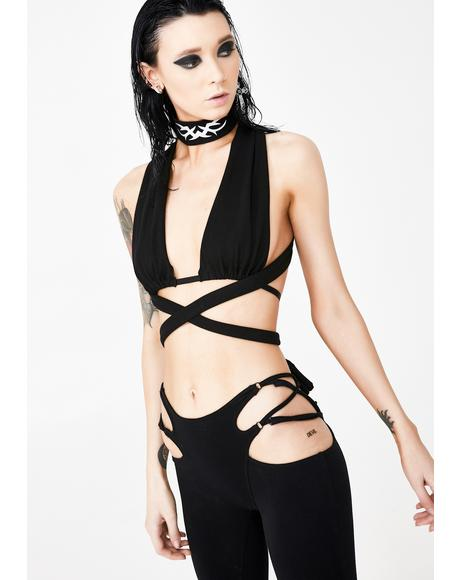 Dark Vendetta Wrap Bra Top