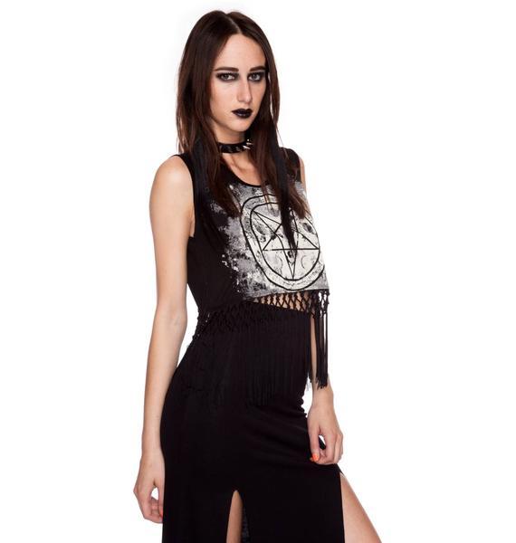 Lip Service Fashion Victim Pentagram Fringe Top
