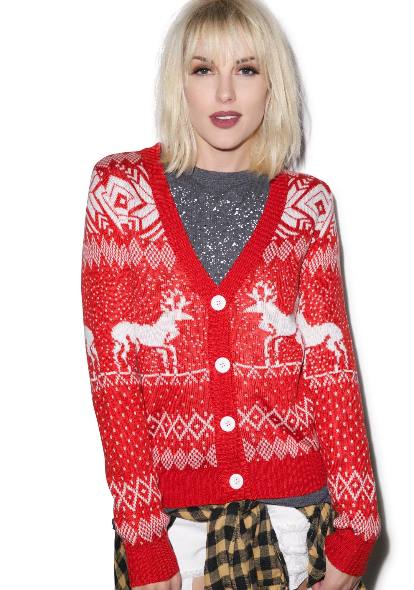 Tipsy Elves Double Date Cardigan