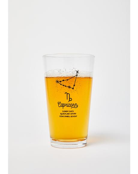 Capricorn Star Sign Pint Glass