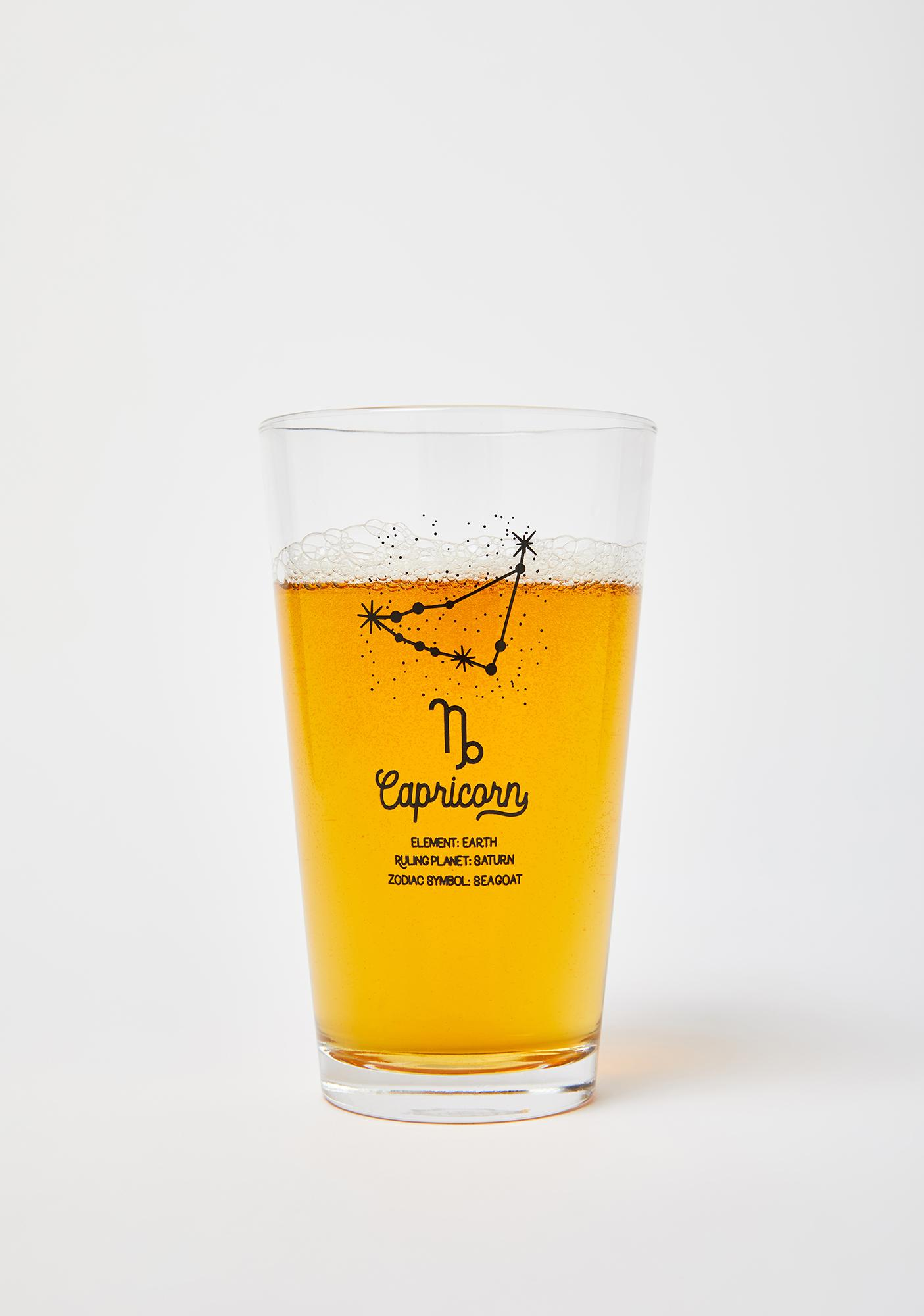 Femfetti Capricorn Star Sign Pint Glass