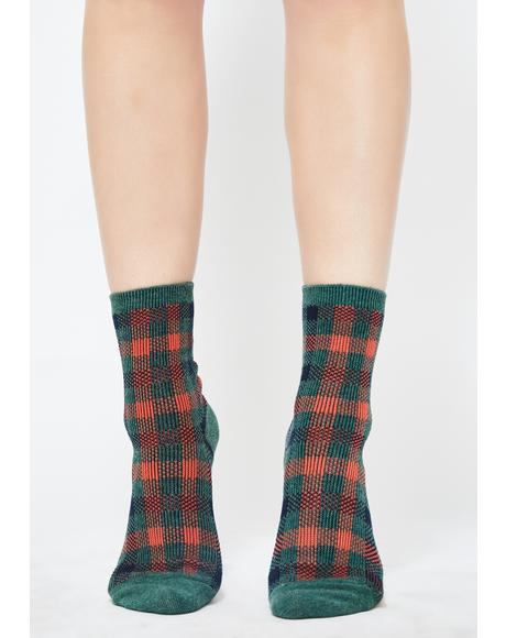 Lush Teenage Tycoon Plaid Socks