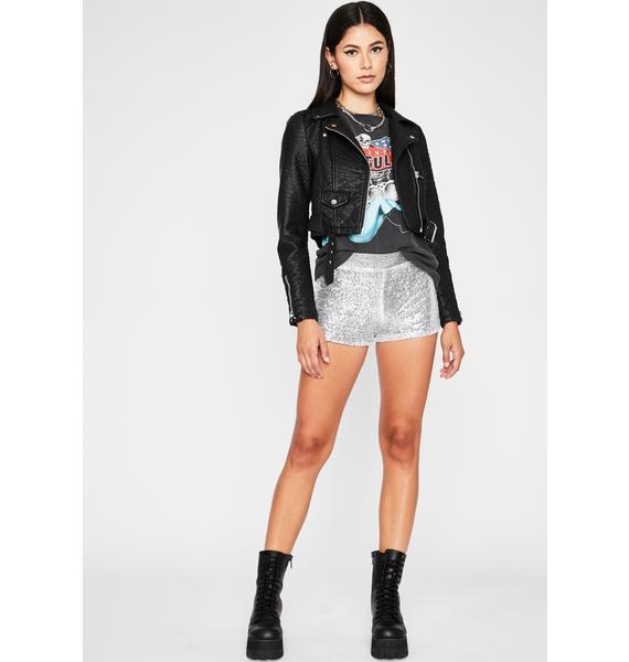 Dreamy Disco Sequin Shorts