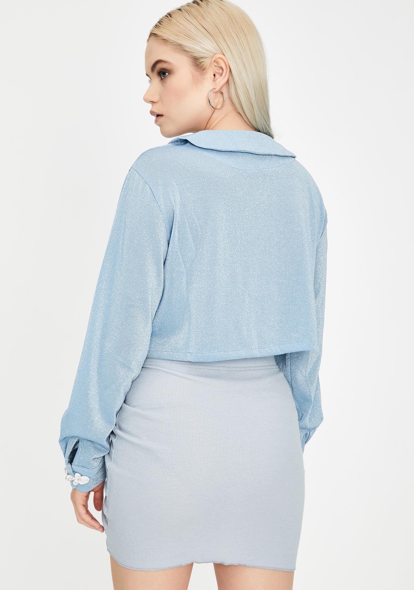 ZEMETA Blue One Way String Mini Skirt