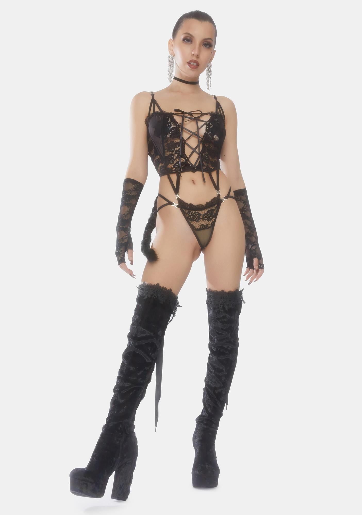 Show Me Show Me Show Me Strappy Lace Teddy