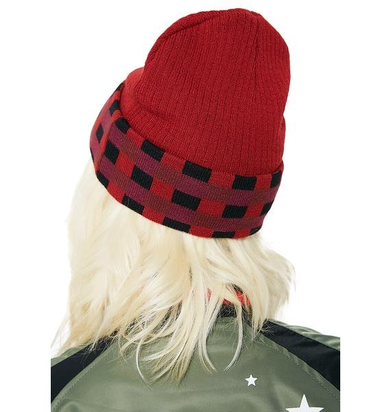 Reason Flannel Crochet Beanie