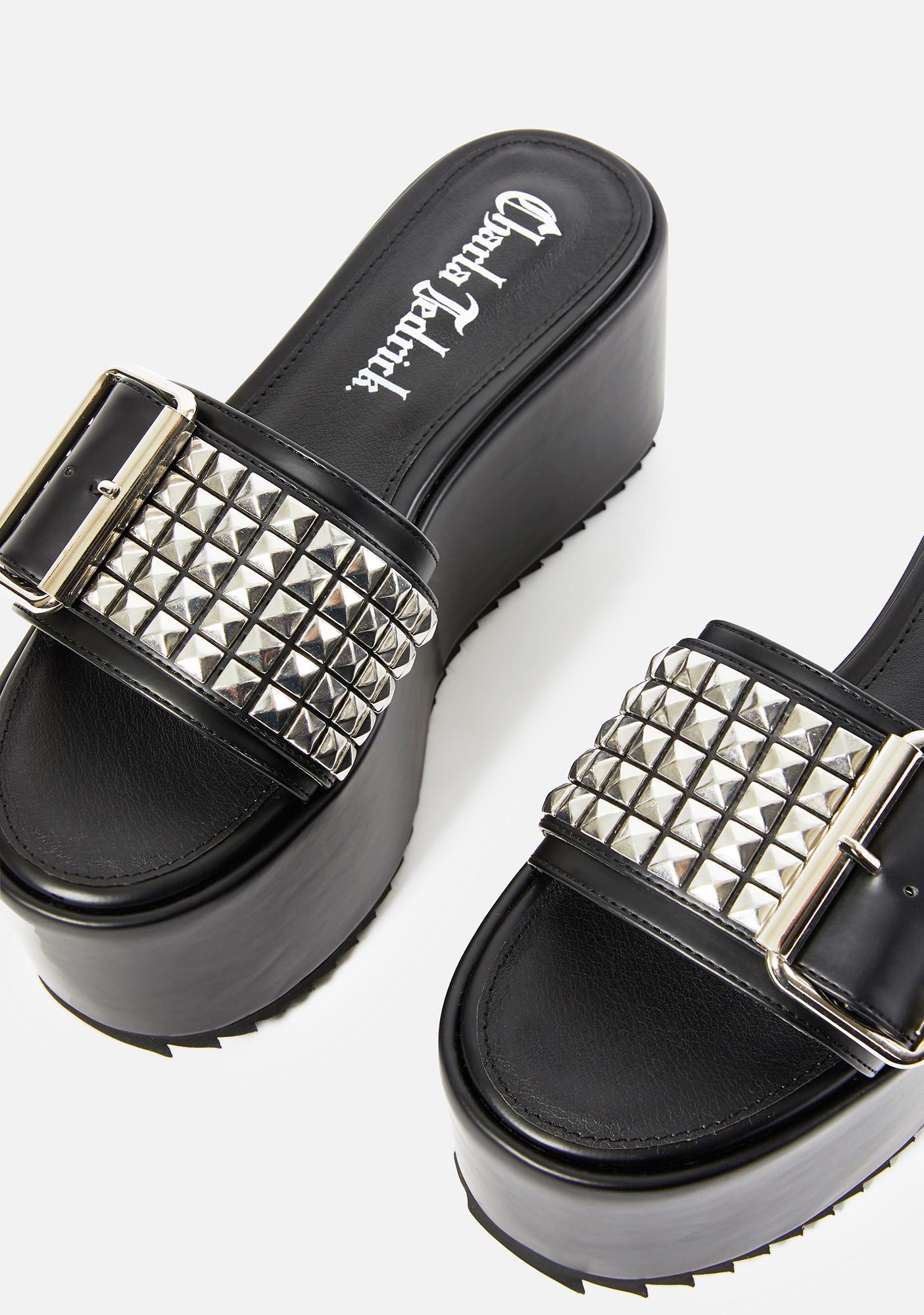 Charla Tedrick Soho Slide Platform Sandals