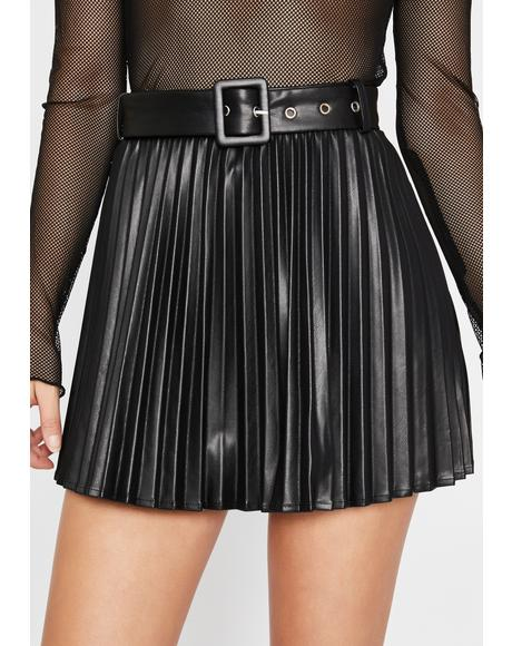 Creating Doubt Pleated Skirt
