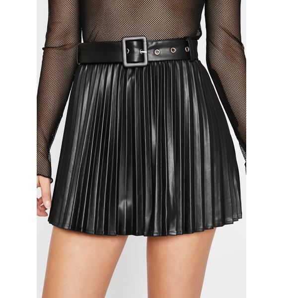 Creating Doubt Pleated Skirt