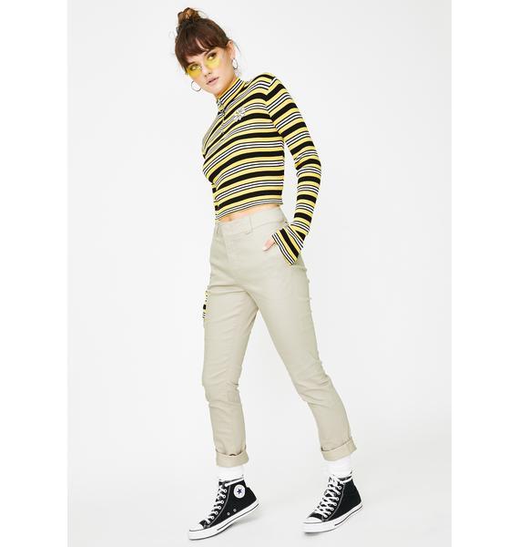 Dickies Girl Khaki Flex Work Pants