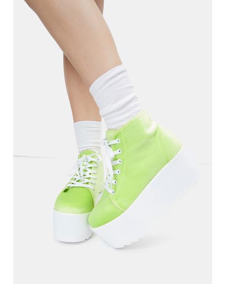 Green Barletta Platform Sneakers
