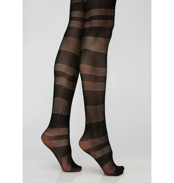 Quiet Chaos Striped Tights