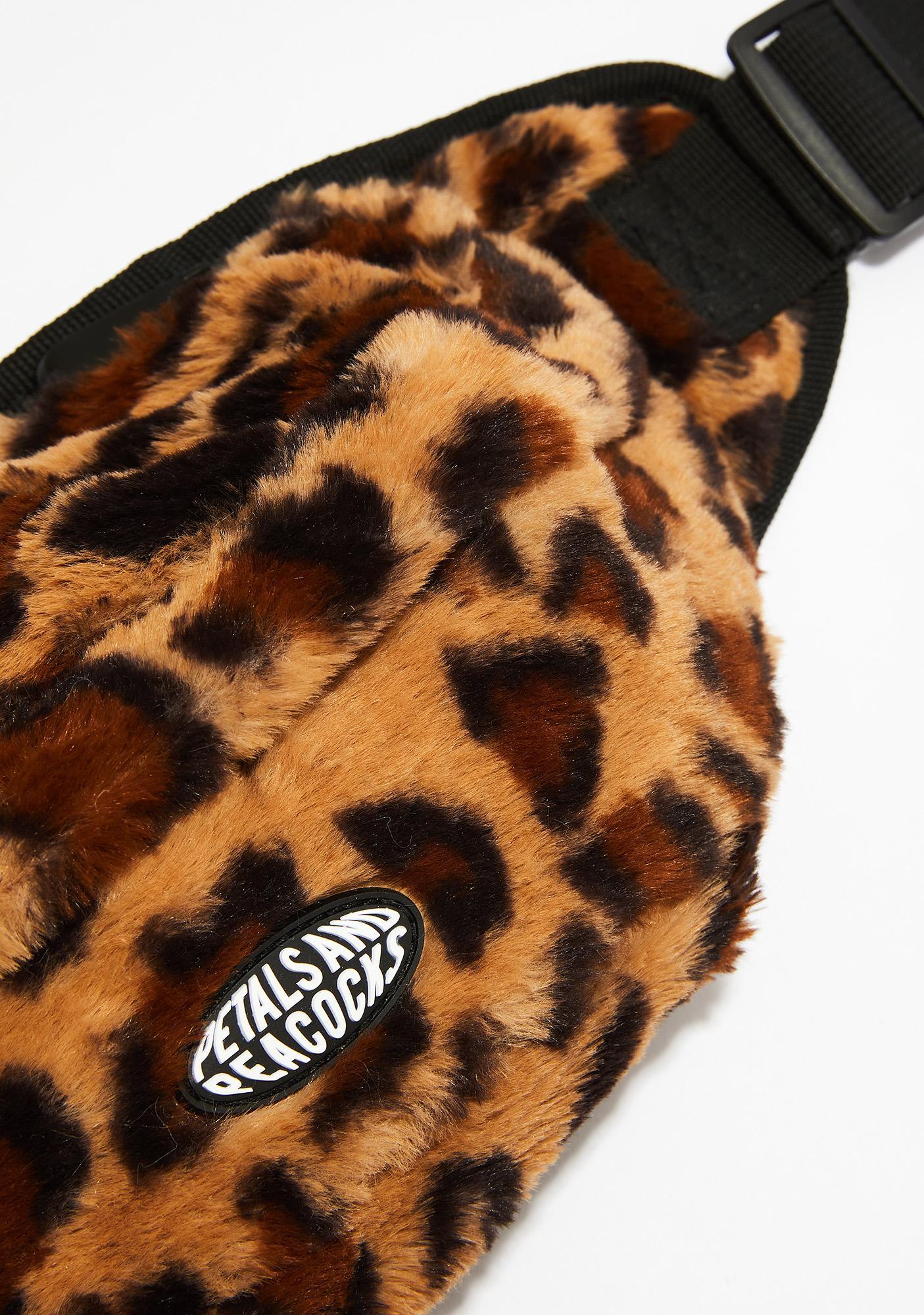Petals and Peacocks Cheetah Waist Bag