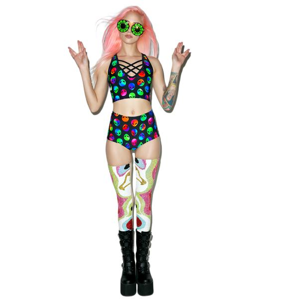 J Valentine Cosmic Cutie High Waisted Shorts
