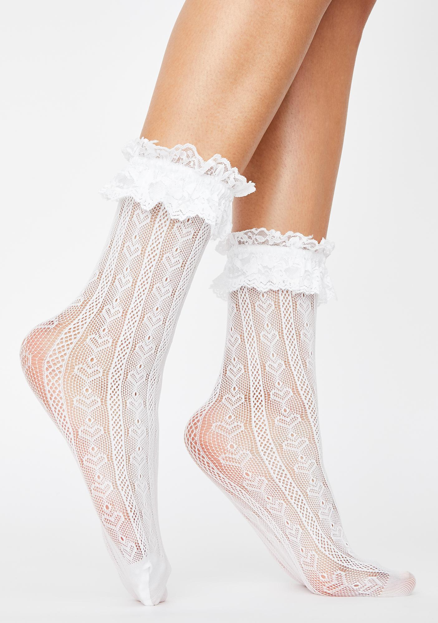Tipsy Tea Time Ruffle Socks