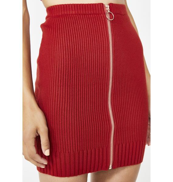 For Love & Lemons Harley Zipper Mini Skirt