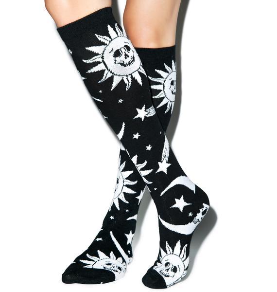 Killstar Cozmic Death Socks