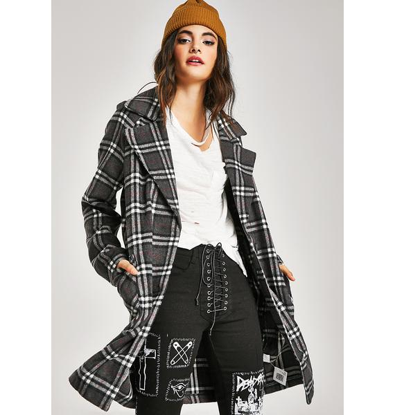 Lesson Learned Plaid Jacket