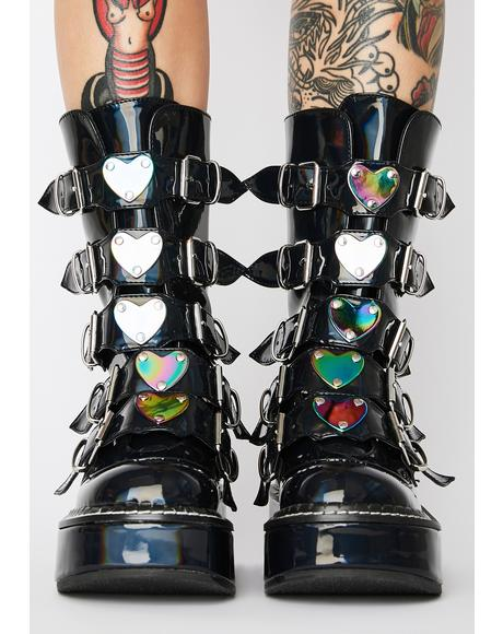Dark Heartbreaker Buckle Boots