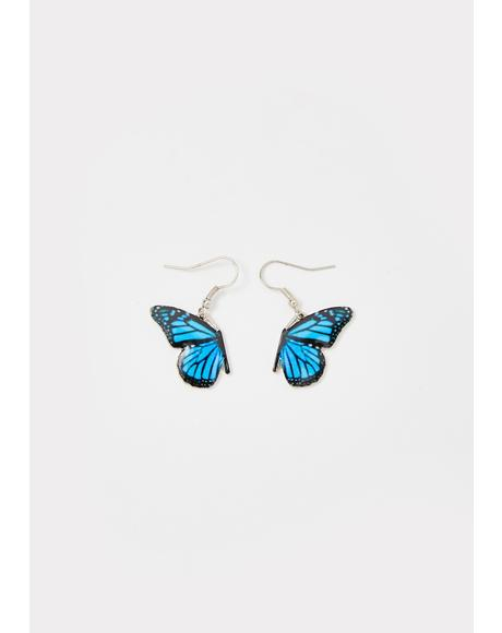 Wing To Wing Butterfly Earrings