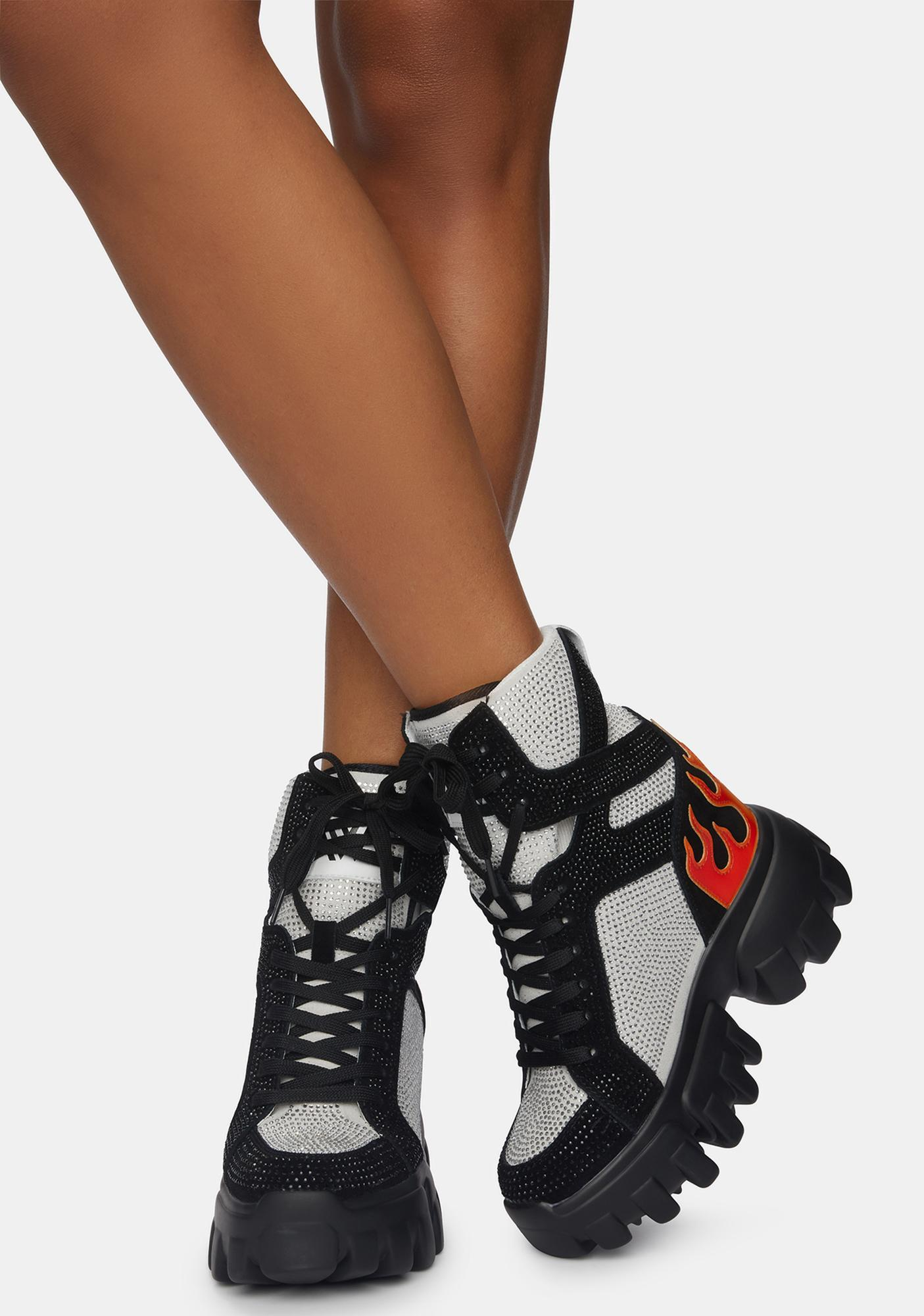 Anthony Wang Black Soursop Platform Sneakers