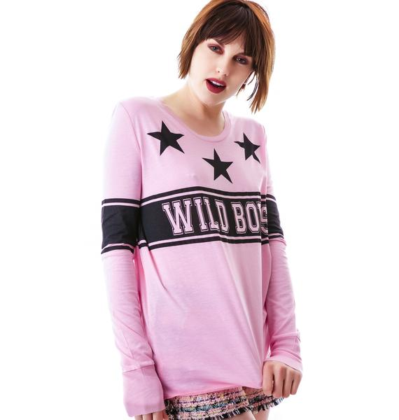 Zoe Karssen Wild Boys Loose Fit Long Sleeve Tee