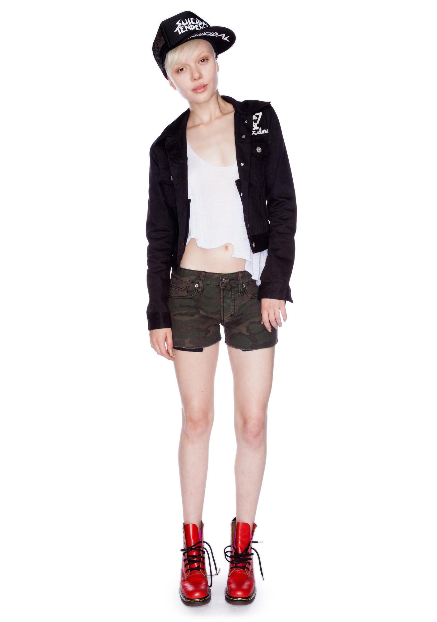 Lip Service Camouflage Dirty Boyfriend Shorts