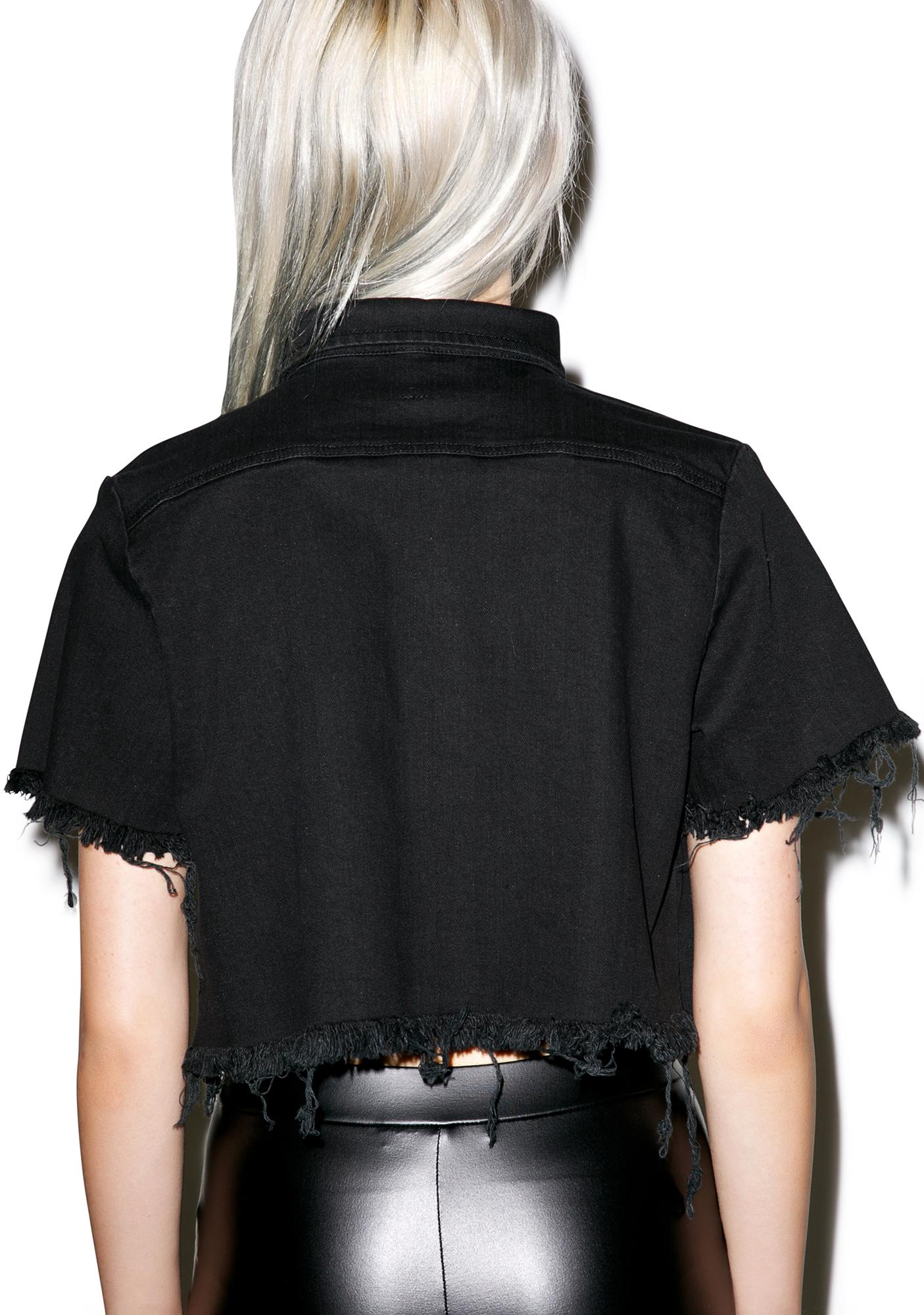 Disturbia Exile Cropped Shirt