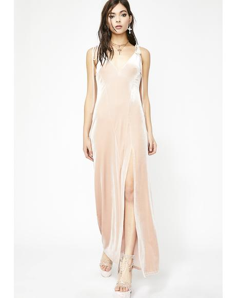 Blush So Swanky Maxi Dress