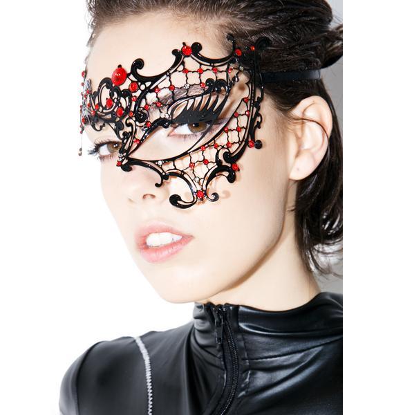 Ruby Masquerade Mask