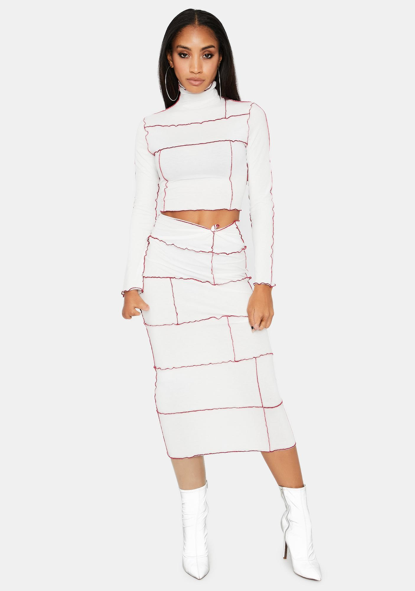 Kiki Riki Ivory Back In Town Skirt Set