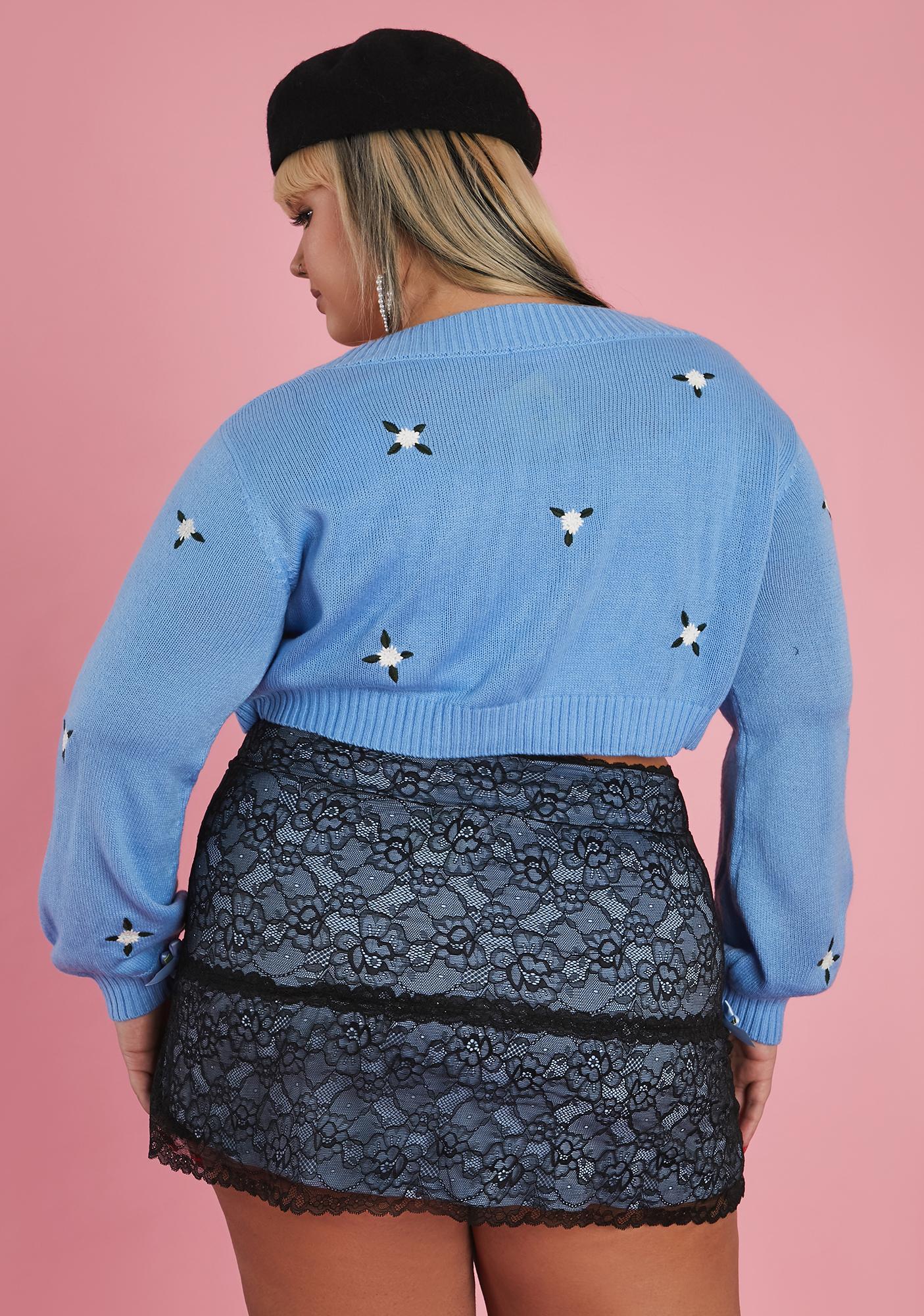 Sugar Thrillz So Prim And Proper Mini Skirt