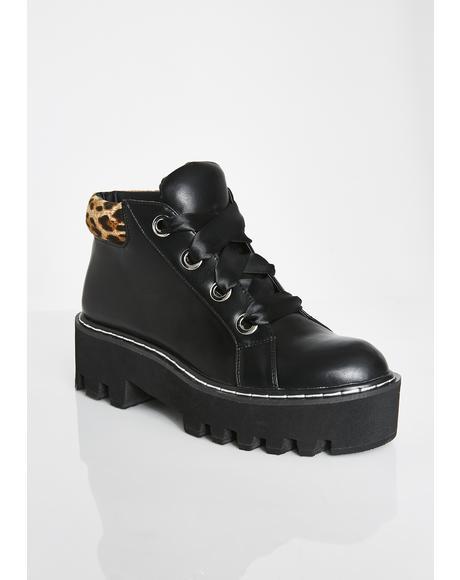 Fierce Shawty Leopard Boots