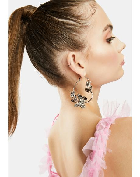 Butterfly Lover Hoop Earrings