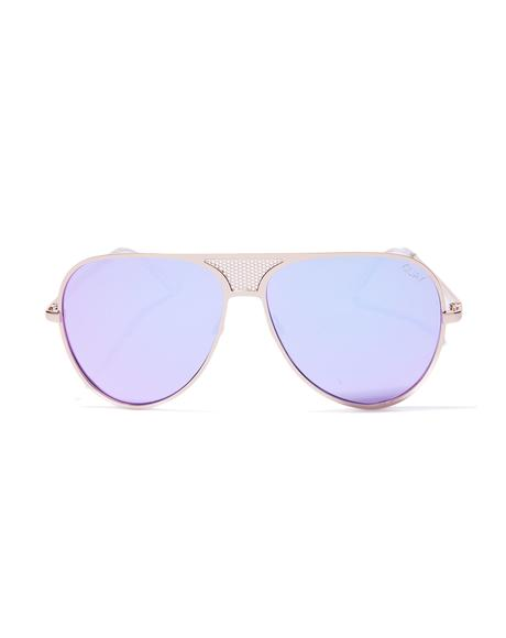 x Kylie Gold Iconic Sunnies
